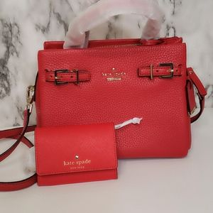 Kate Spade NWT Small Lanie Holden Street, red